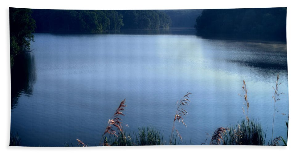Cobalt Beach Towel featuring the photograph A Cobalt Morning by Thomas Woolworth