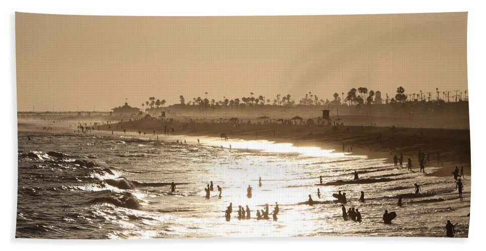 Landscape Beach Towel featuring the photograph A Day At The Beach by Shoal Hollingsworth