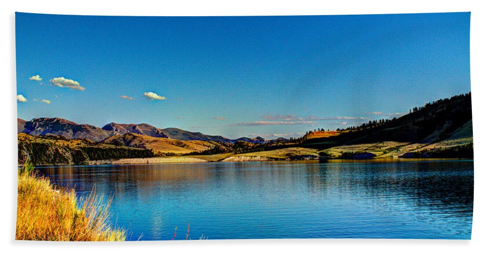 Lake Beach Towel featuring the photograph A Day At The Lake by John Lee