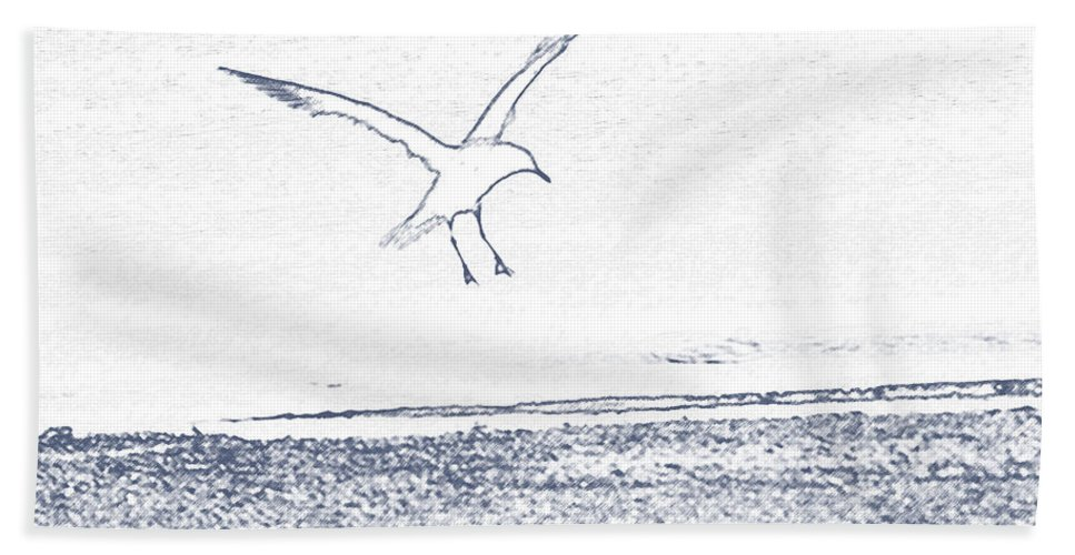 Seagull Beach Towel featuring the photograph A Fine Flight by Karol Livote