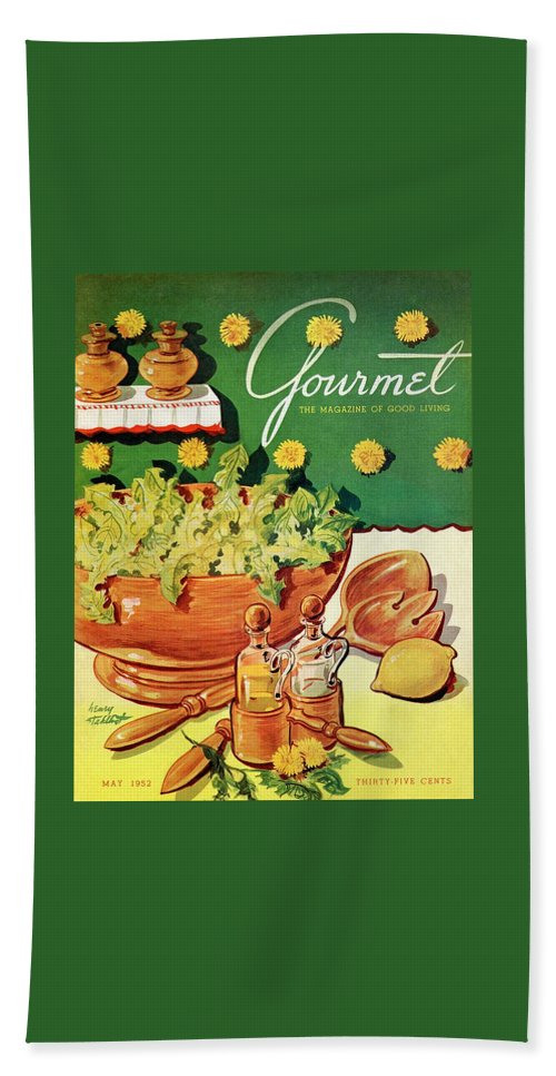 A Gourmet Cover Of Dandelion Salad Beach Towel