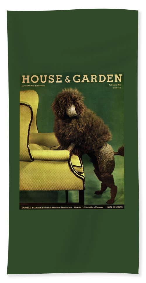A House And Garden Cover Of A Poodle Beach Towel