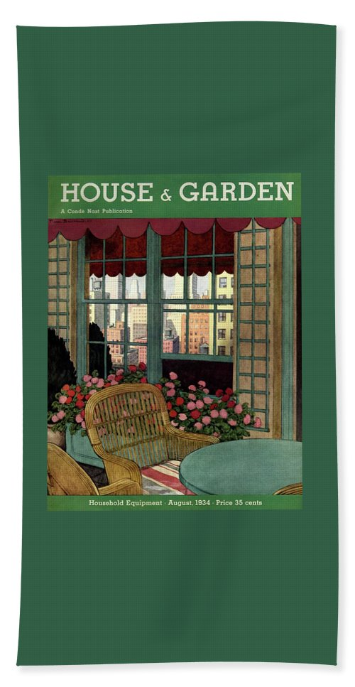 A House And Garden Cover Of A Wicker Chair Beach Towel
