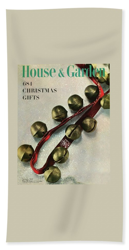 Illustration Beach Towel featuring the photograph A House And Garden Cover Of Sleigh Bells by Herbert Matter