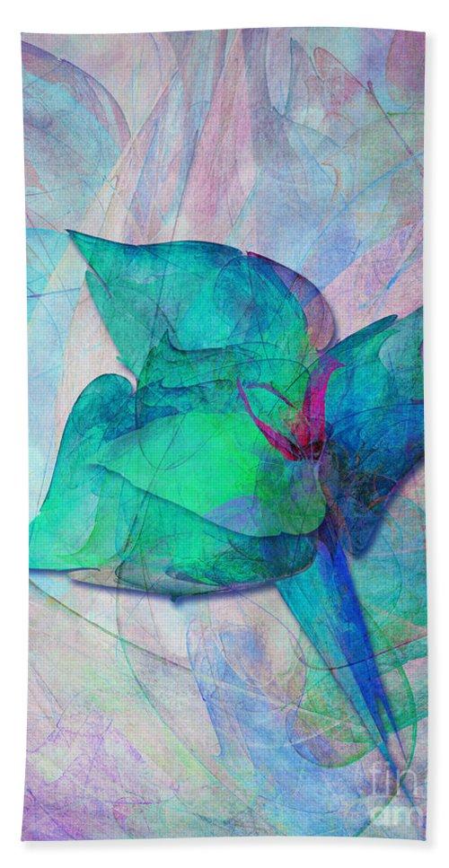 Little Beach Towel featuring the digital art A Little Flower by Klara Acel