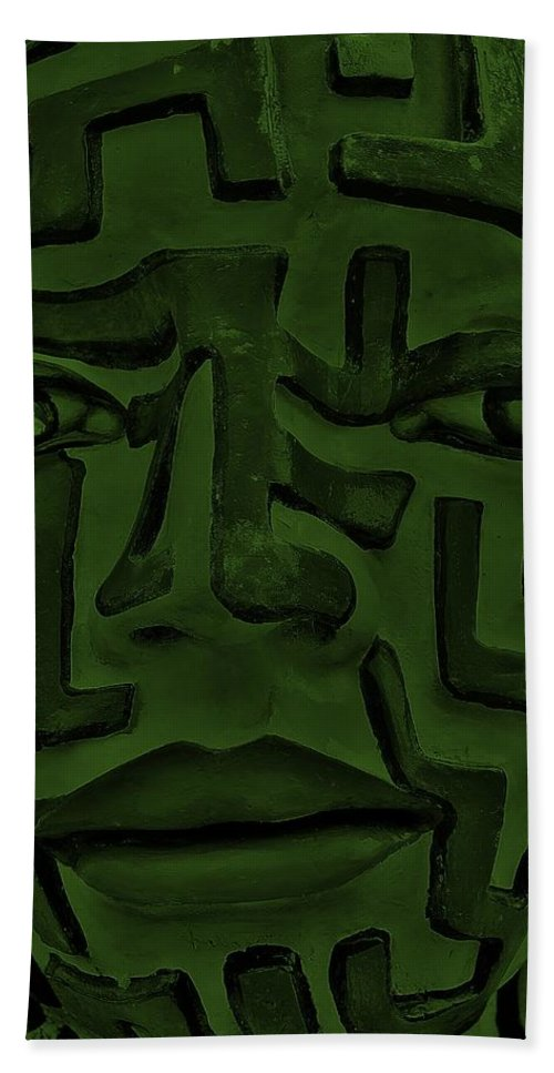 Maze Beach Towel featuring the photograph A Mazing Olive Face by Rob Hans