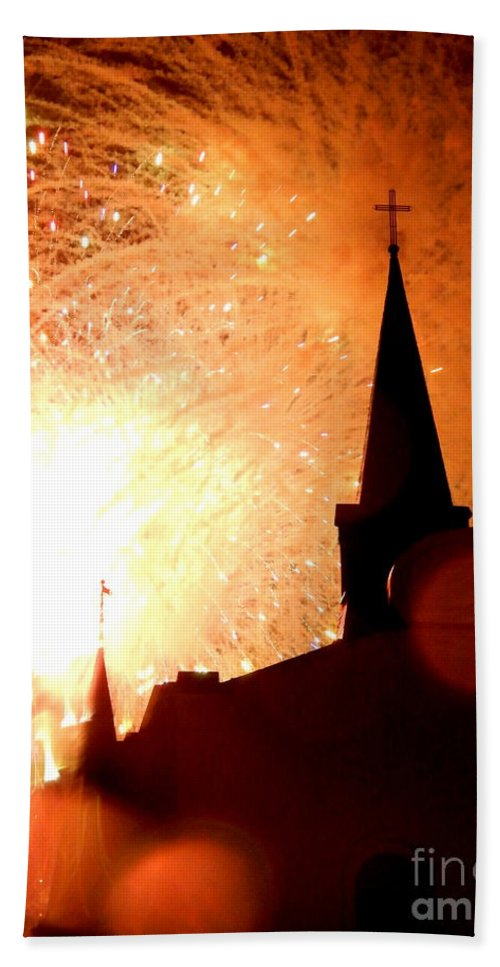 Nola Beach Towel featuring the photograph New Orleans St. Louis Cathedral A New Day A New Year In Louiisana by Michael Hoard