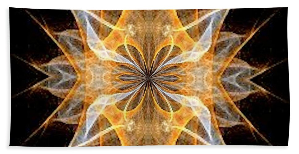 A New Year's Star 2014 Beach Towel featuring the digital art A New Year's Star 2014 by Maria Urso