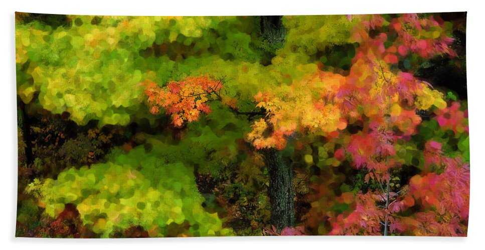 Adirondack Beach Towel featuring the photograph A Painting Adirondack Autumn by Mike Nellums