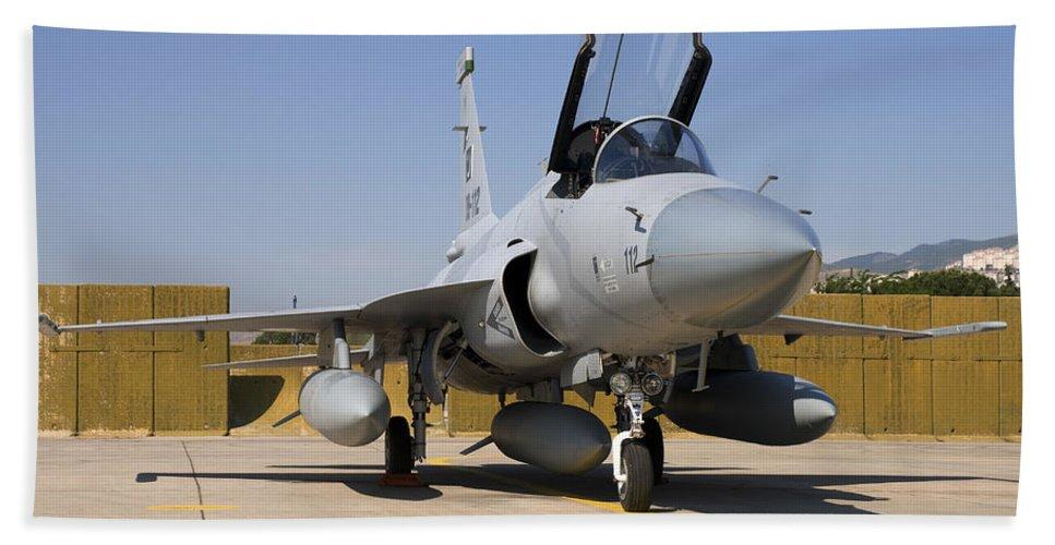 Military Beach Towel featuring the photograph A Pakistan Air Force Jf-17 Thunder by Daniele Faccioli