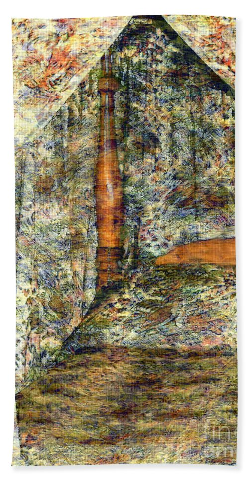 Antiques Beach Towel featuring the painting A Profusion Of Chintz by RC DeWinter