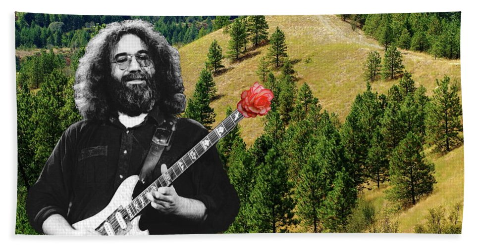 Grateful Dead Beach Towel featuring the photograph A Rose For The Hills by Ben Upham