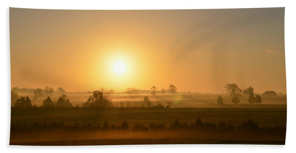 Spring Beach Towel featuring the photograph A Spring Morning At Gettysburg by Bill Cannon