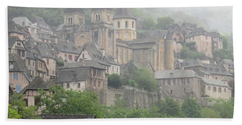 Conques Beach Towel featuring the photograph A Step Back In Time by Mary Ellen Mueller Legault