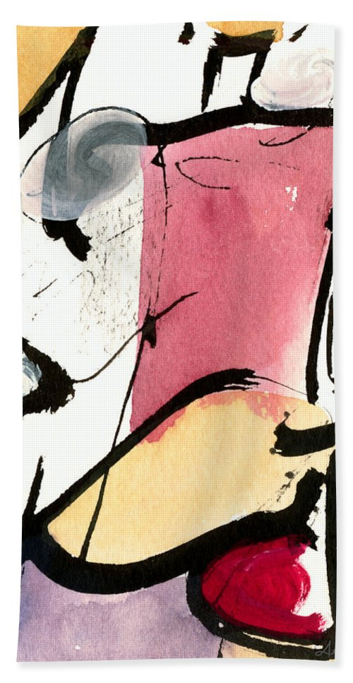 Abstract Art Beach Towel featuring the painting A Thing Of Beauty by Stephen Lucas