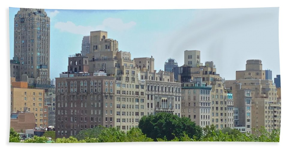 Met Beach Towel featuring the photograph A View From The Met by Christy Gendalia