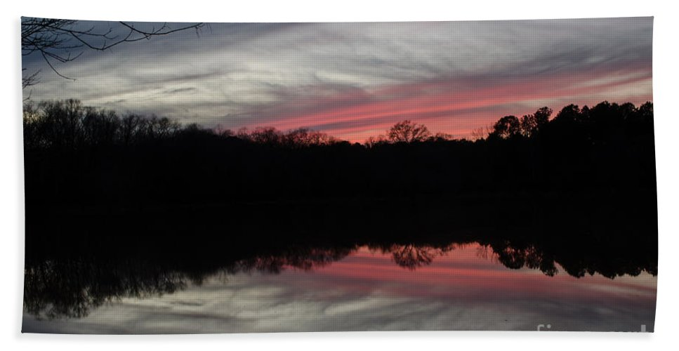 Sunset Beach Towel featuring the photograph A Christmas Winter Sunset by Donna Brown
