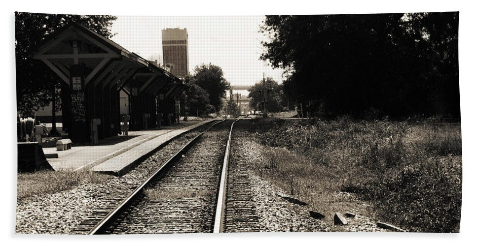 Train Station Beach Towel featuring the photograph Abandoned Train Station by Jon Cody