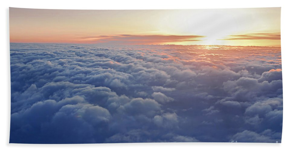 Sky Beach Towel featuring the photograph Above The Clouds by Elena Elisseeva