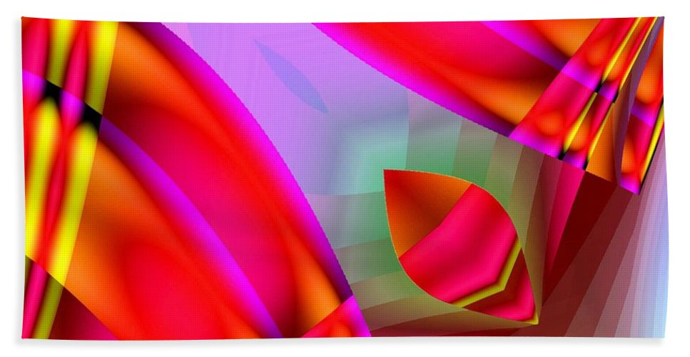 Abstract Beach Towel featuring the digital art Abstract 134 by Maria Urso