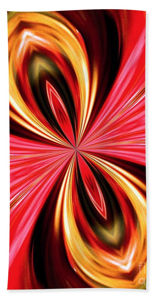 Abstract 151 Beach Towel featuring the digital art Abstract 151 by Maria Urso