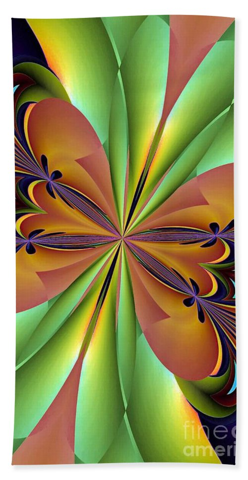 Abstract 159 Beach Towel featuring the digital art Abstract 159 by Maria Urso