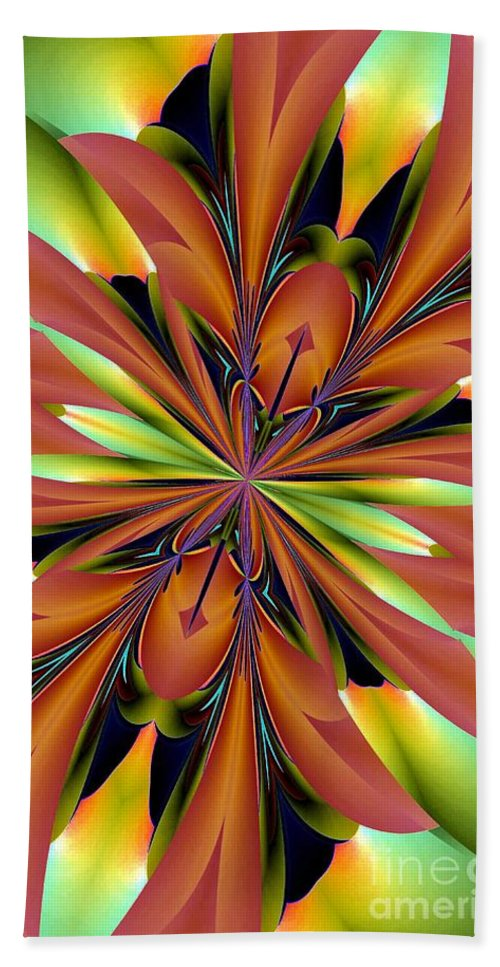 Abstract 162 Beach Towel featuring the digital art Abstract 162 by Maria Urso