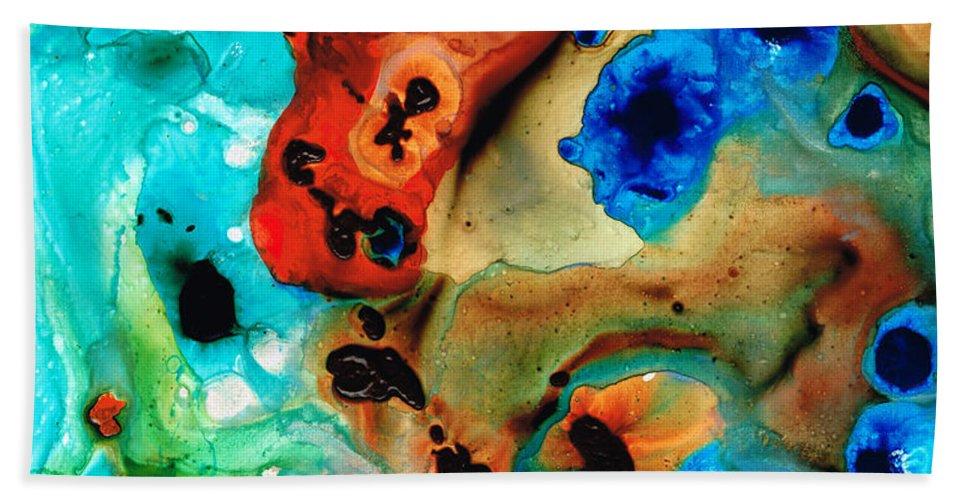 Abstract Art Beach Sheet featuring the painting Abstract 4 - Abstract Art By Sharon Cummings by Sharon Cummings
