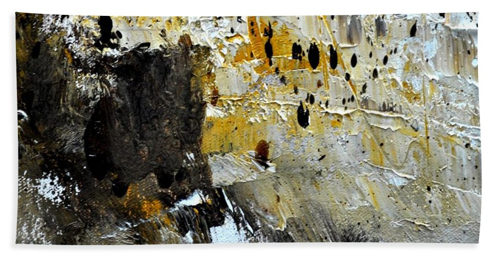 Abstract Beach Towel featuring the painting Abstract 411111 by Pol Ledent
