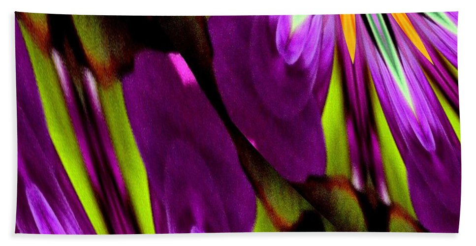 Abstract A03 Beach Towel featuring the digital art Abstract A03 by Maria Urso