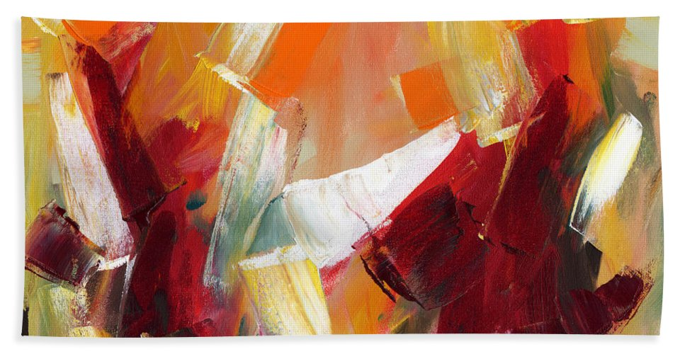 Abstract Beach Towel featuring the painting Abstract Art Sixty by Lynne Taetzsch