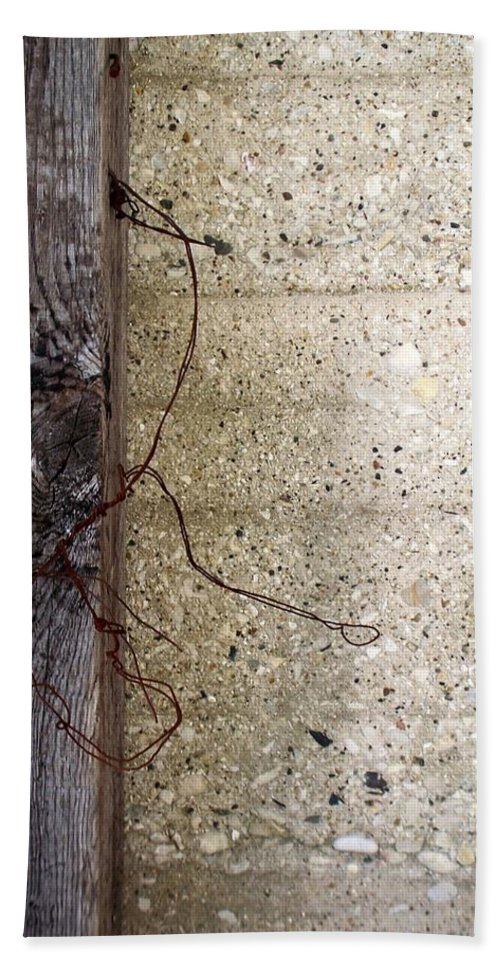 Industrial. Urban Beach Sheet featuring the photograph Abstract Concrete 11 by Anita Burgermeister