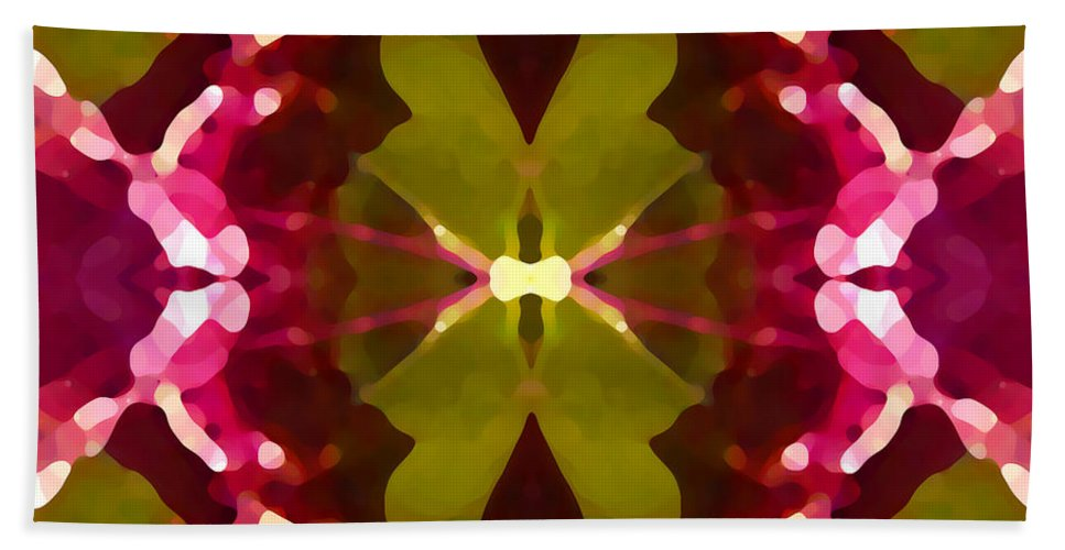 Contemporary Beach Towel featuring the painting Abstract Crystal Butterfly by Amy Vangsgard