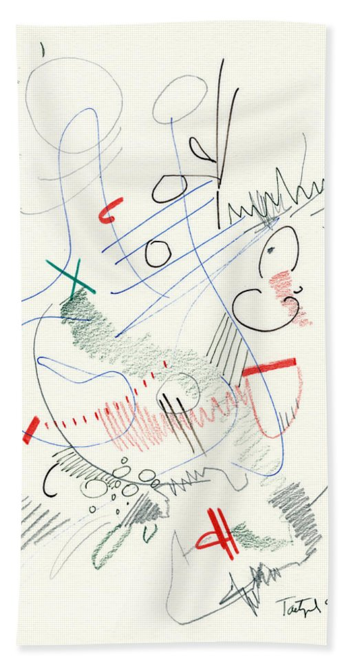 Abstract Beach Towel featuring the drawing Abstract Drawing Fifty-five by Lynne Taetzsch
