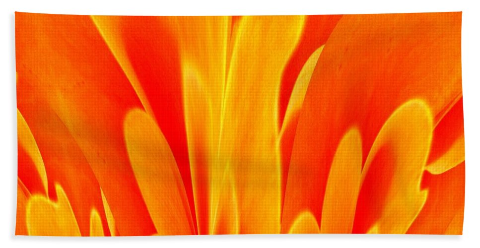 Abstract Fire Beach Towel featuring the digital art Abstract Fire by Maria Urso