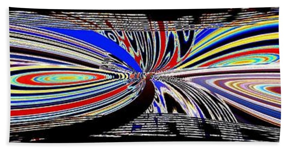 Abstract Fusion Beach Towel featuring the digital art Abstract Fusion 197 by Will Borden