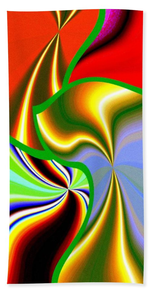 Abstract Fusion Beach Towel featuring the digital art Abstract Fusion 200 by Will Borden
