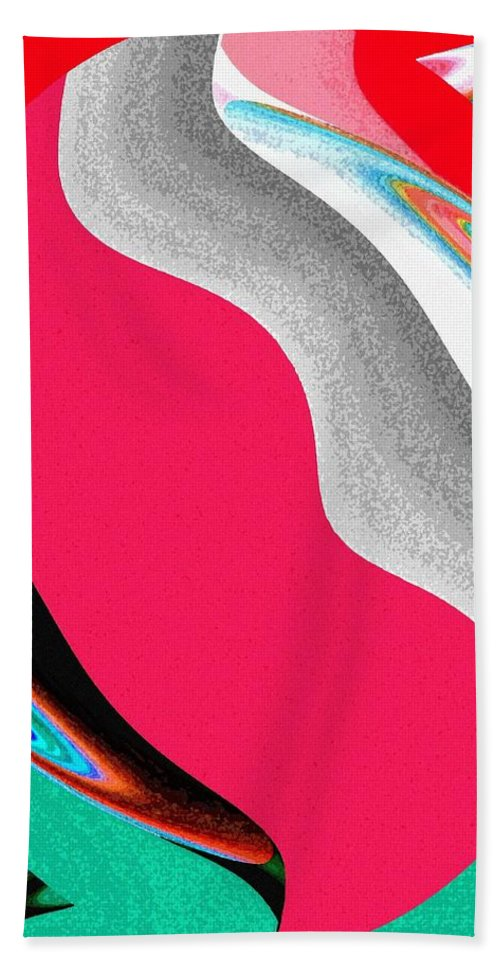 Abstract Fusion 208 Beach Towel featuring the digital art Abstract Fusion 208 by Will Borden