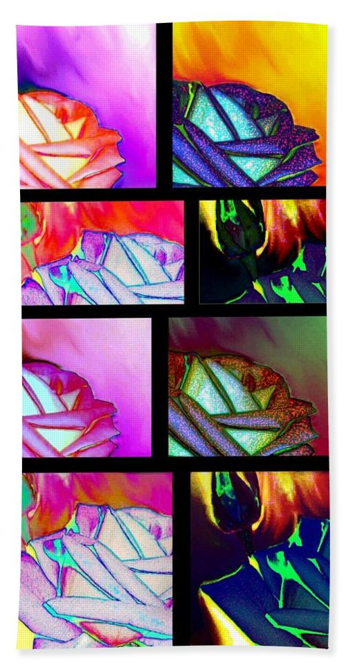 Abstract Fusion 214 Beach Towel featuring the digital art Abstract Fusion 214 by Will Borden