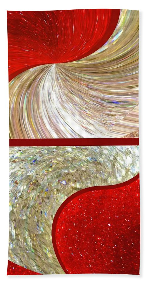 Abstract Fusion 218 Beach Towel featuring the digital art Abstract Fusion 218 by Will Borden