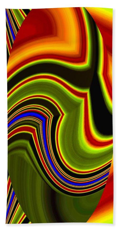 Abstract Fusion 234 Beach Towel featuring the digital art Abstract Fusion 234 by Will Borden