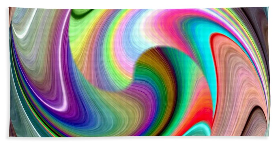 Abstract Fusion 241 Beach Towel featuring the digital art Abstract Fusion 241 by Will Borden