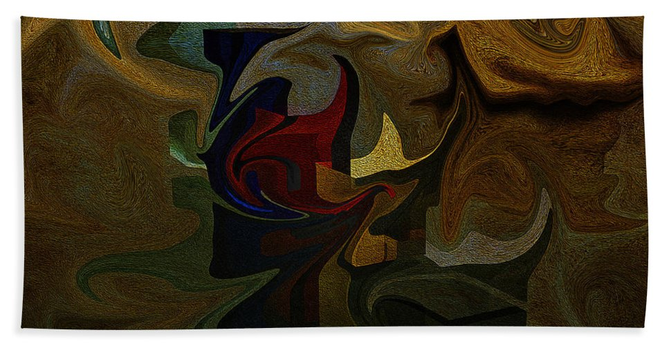 Geometries Beach Towel featuring the digital art Geometries by Ramon Martinez