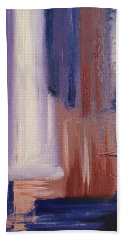 Abstract Beach Towel featuring the painting Abstract I by Donna Tuten
