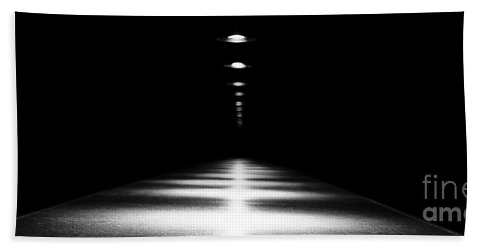 Black & White Beach Towel featuring the photograph Abstract Light by Scott Pellegrin