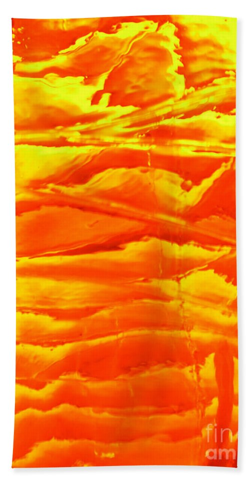 Orange Beach Sheet featuring the photograph Abstract Orange by Amanda Barcon