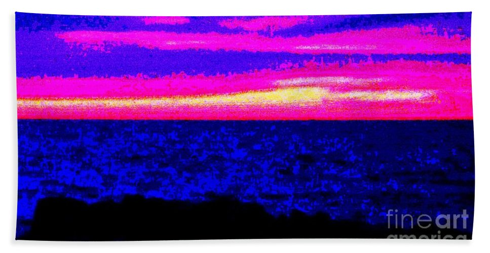Abstract Beach Towel featuring the photograph Abstract Seascape by Eric Schiabor
