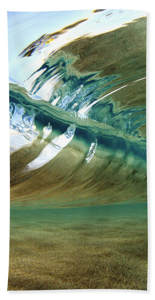 Abstract Beach Towel featuring the photograph Abstract Underwater 2 by Vince Cavataio - Printscapes