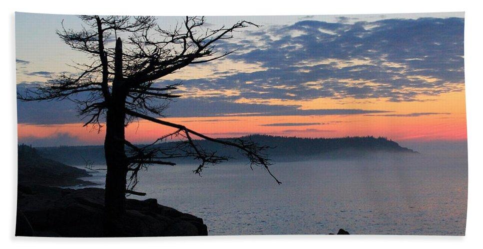 Acadia National Park Beach Towel featuring the photograph Acadia Sunrise 2 by Jeff Heimlich