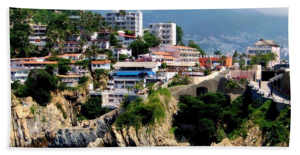 Acapulco Beach Towel featuring the photograph Acapulco by Karen Wiles